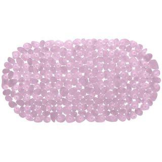 Sol Douche Baignoire à Ventouse Deco Zen Galets Rose   Dimension  68