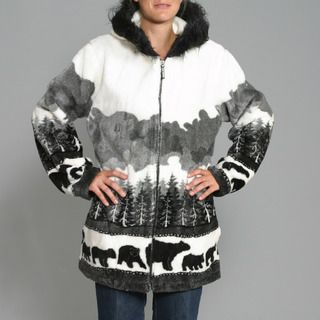 Black Mountain Womens Bears Crossing Hooded Jacket