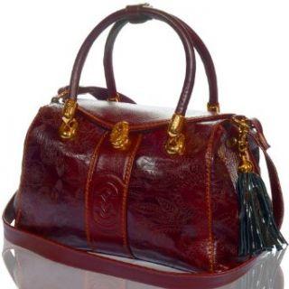 Marino Orlandi Italian Designer Brown Paisley Glazed