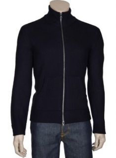 Vince Mens Navy Blue Wool Cardigan Sweater Small S Euro 48