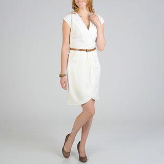 Sharagano Womens Belted Career Dress