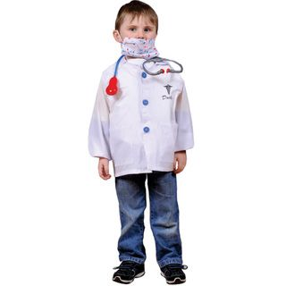 Dress Up America Kids Doctor Role Play Dress Up Set