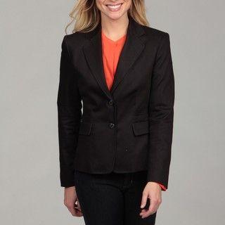 Calvin Klein Womens Black Two button Blazer