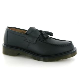 Dr.Martens Adrian Smooth Black Leather Mens Shoes Shoes