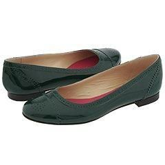 Kate Spade Bedelia Forest Green Patent Flats   Size 7.5 M