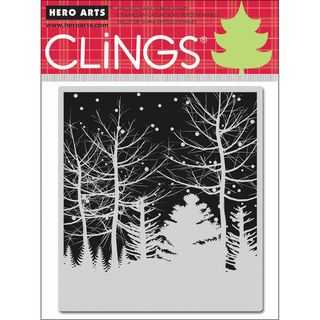 Hero Arts Cling Stamps Snowy Winter Nights