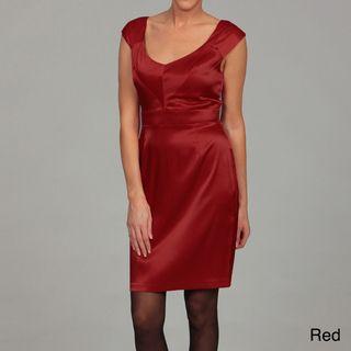 Emma & Michelle Womens Sheath Satin Dress