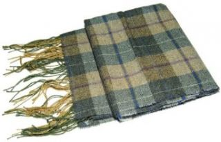 Polo Ralph Lauren Mens Cashmere Plaid Scarf Brown Olive