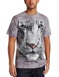 The Mountain Mens White Tiger Face Shirt Clothing