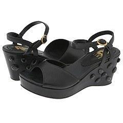 Line Kids 12 7010 (Youth) Black Nappa Sandals