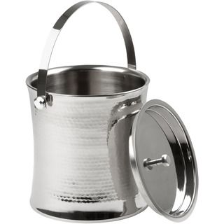 Stainless Steel Hammered Finish Ice Bucket