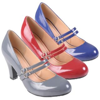 Journee Collection Womens Wendy 09 Mary Jane Patent Leather Pumps