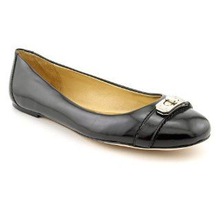 com Coach Adela Womens Size 6 Black Black Leather Flats Shoes Shoes