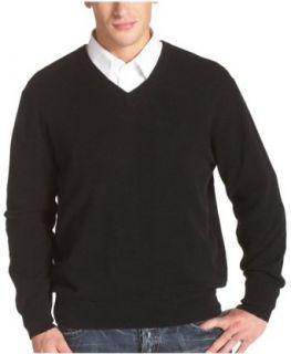 Choix Des Sportifs Mens V Neck Cashmere Sweater, Black