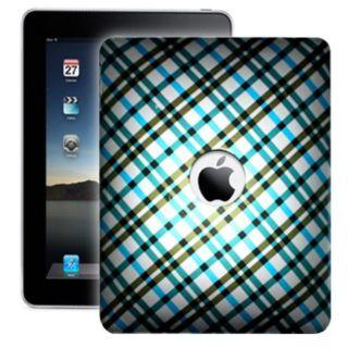 Premium Blue Plaid Apple iPad Protector Case