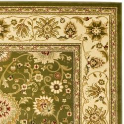 Lyndhurst Collection Majestic Sage/ Ivory Rug (9 x 12)