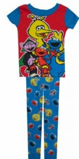 Sesame Street   Muppet Characters Blue Cotton PJ for boys