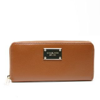 Michael Kors Jet Set Luggage Leather Continental Zip Wallet