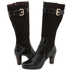 Vigotti Rubi Dark Brown Suede/Patent Boots