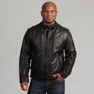 Calvin Klein Mens Leather Scuba Jacket