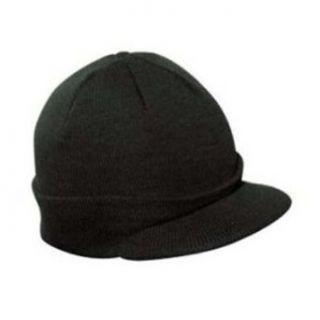 Knit Cuff Beanie Visor   Winter Wear/Sports   Black