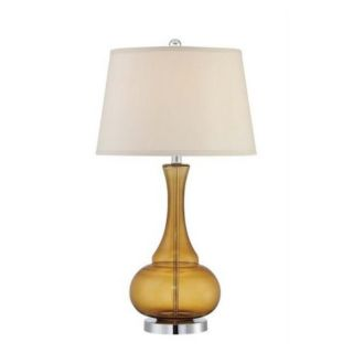 Amber Glow Contemporary Yellow Tinted Glass Table Lamp