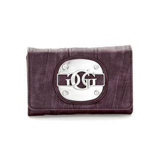 Guess Womens Purple Tri fold Wallet