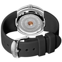 Philip Stein Womens Active Black Rubber Strap Watch