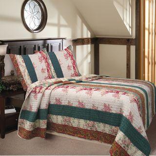 Rosa Stripe Quilt Set