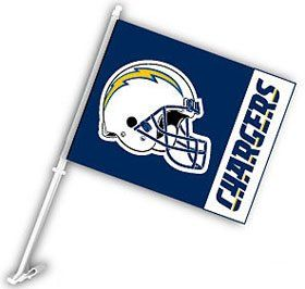 San Diego Chargers Car Flag Vibrant Colors & Features the