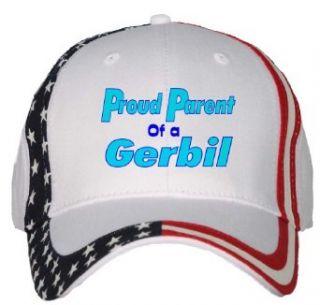 Proud Parent of a Gerbil USA Flag Hat / Baseball Cap
