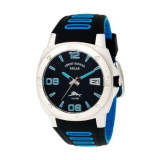 Tommy Bahama Mens Relax Reef Diver Polyurethane Strap Watch