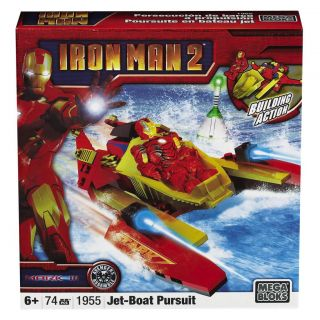 Mega Bloks Iron Man Mark 3 Battle Damage Toy Set