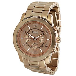Geneva Platinum   Reloj de hombre, con eslabones, estilo cronógrafo