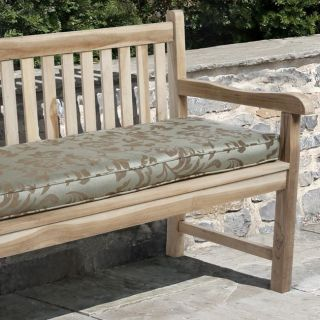 Clara 48 inch Outdoor Green/ Brown Stripe Bench Cushion with Sunbrella