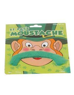 Saint Patricks Day Green Leprechaun Costume Moustache