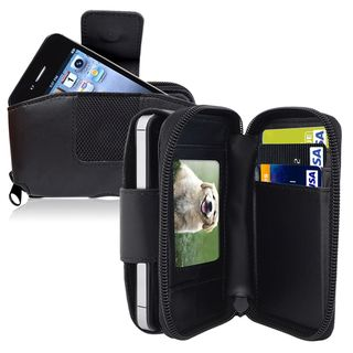 BasAcc Larger Wallet Leather Case with Credit Card Holder and Clip