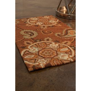 Hand hooked Fandango Light Brown Rug (23 x 39)
