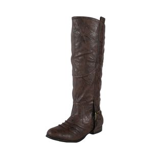 Liliana by Beston Womens Marsala Brown Riding Boots