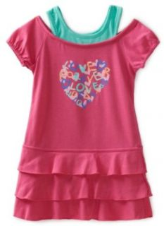 Carters Girls 2 6x Love Forever Dress, Rose, 4 Clothing