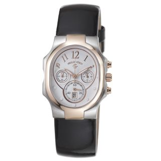 Philip Stein Womens Signature White Dial Two Tone Chronograph Watch