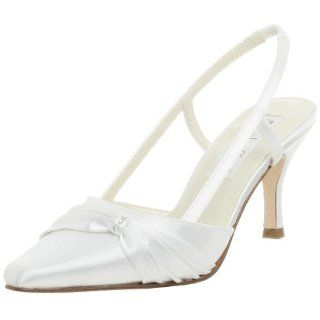 Coloriffics Womens Donna Slingback Pump,White,7 M Shoes