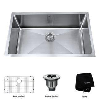 Kraus 32 inch Undermount Single Bowl Stainless Steel Kitchen Sink