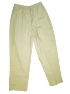 Alfred Dunner Classics Petite Cotton/Polyester Pants Stone