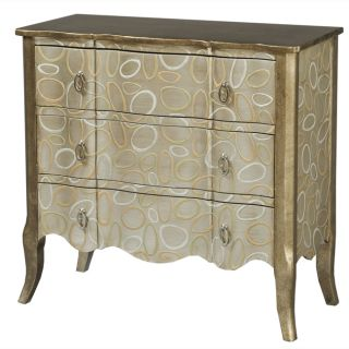 Hand painted Silver and Gold Finish Accent Chest