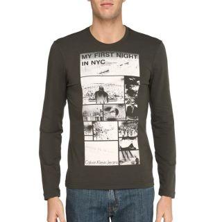 CALVIN KLEIN JEANS T Shirt Homme Kaki Kaki   Achat / Vente T SHIRT