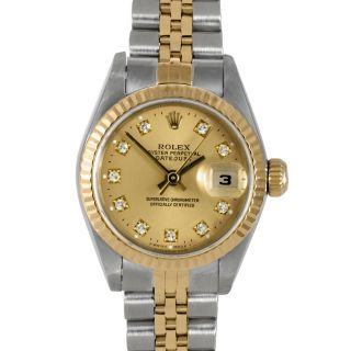 Pre owned Rolex Womens OS Datejust Two tone Watch