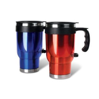 Heated Auto Travel Mug Set with 12 Volt DC Power, 2 Pack