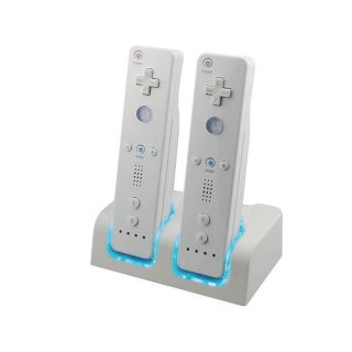 Eforcity Remote Control Charger w/ 2 Rechargeable Batteries for Wii