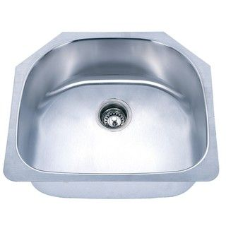 Shaped Undermount Stainless Steel Single Sink
